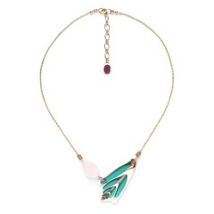 Колье Nature Bijoux LAGOON Из бирюзовой ракушки и розового кварца