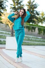 Бирюзовый спортивный костюм nadya