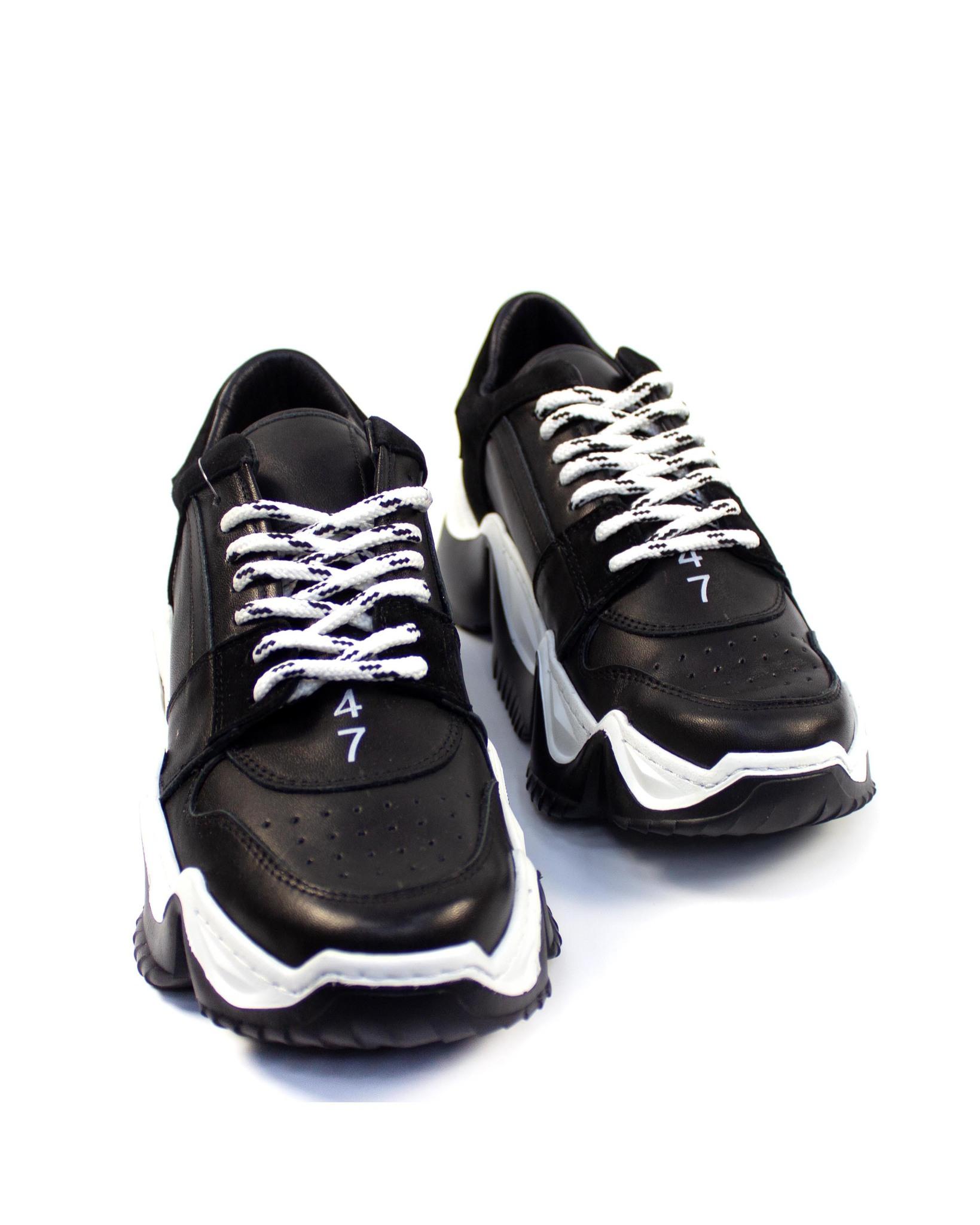 черно-белые кроссовки Mario Muzi