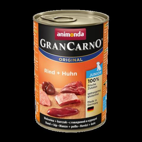 Animonda GranCarno Original Junior Консервы для щенков с говядиной и курицей (Банка)