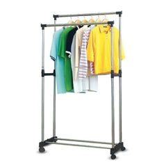 Напольная передвижная вешалка для одежды Double-Pole