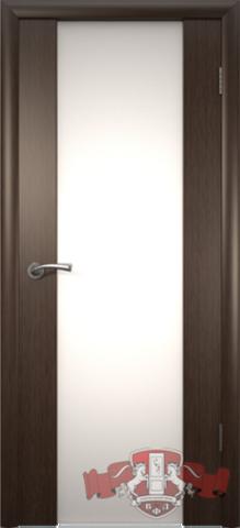 Дверь 8ДО4 бел. Трипл. (венге, остекленная шпонированная), фабрика Владимирская фабрика дверей