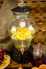 Стеклянный диспенсер для напитков «Вулкан», 5 литров, фото 1