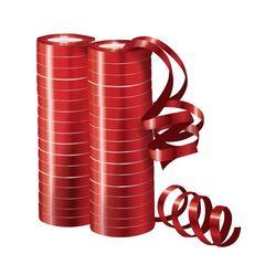 Серпантин фольгированный Металл Красный 4 м / 2 шт. (36 колец)
