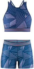 Комплект для бега Craft Lux Blue женский - топ, шорты