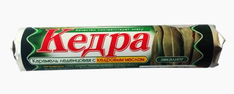 Леденцы при болях в горле с маслом кедровым и маслом эвкалипта, 10 шт