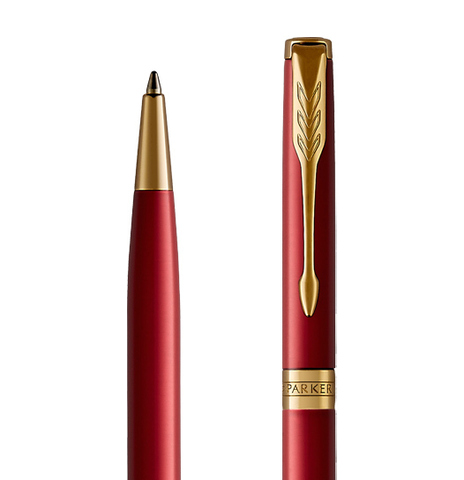 Parker Sonnet Core - LaqRed GT SLIM, шариковая ручка, M, BL