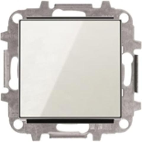 Выключатель одноклавишный. Цвет Белое стекло. ABB Sky. 8101+2CLA850100A2101