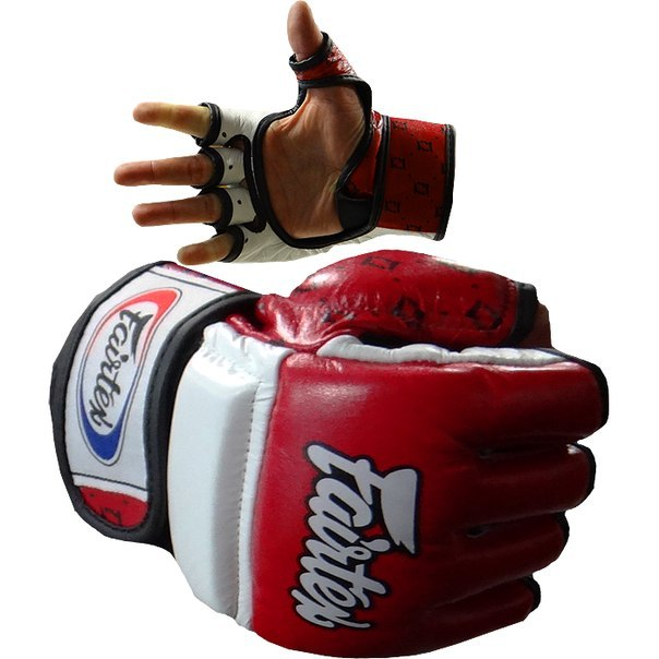 ММА перчатки Перчатки MMA Fairtex Sparring Gloves FGV17 Red 1.jpg