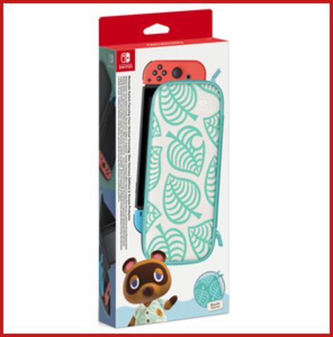 Чехол в стиле Animal Crossing: New Horizons + защитная плёнка (Nintendo Switch)