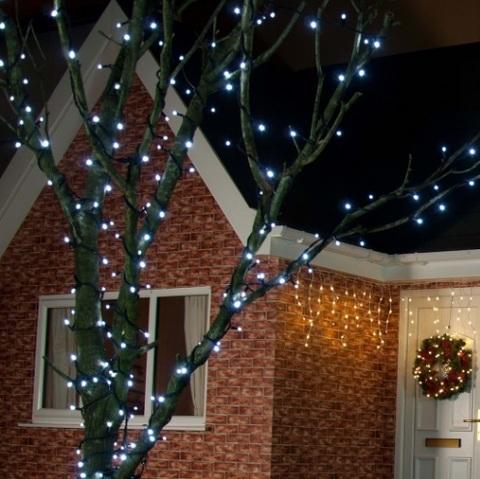 гирлянды на деревья уличные нити профессиональные LED