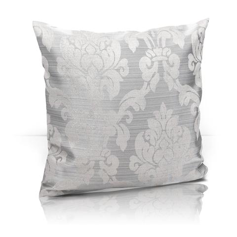Подушка декоративная Афина жаккард серый