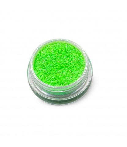 Блестки 3 гр+ баночка неон зеленые