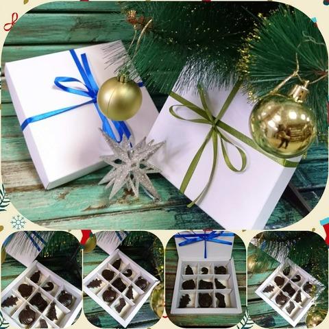 Шоколадные конфеты ручной работы в коробочке, 85 гр.