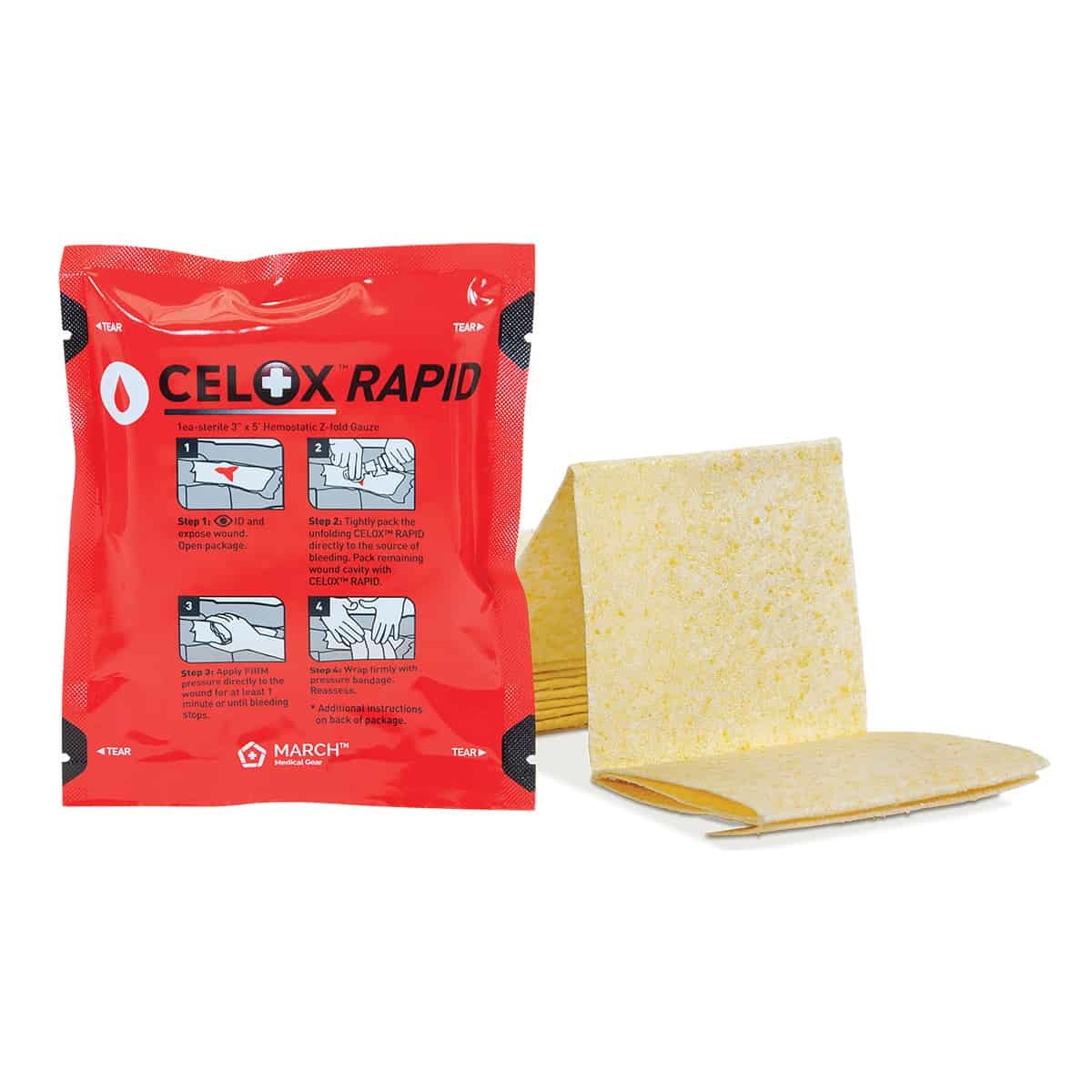 Celox Бинт Rapid Red