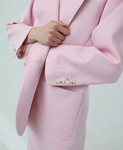 Жакет розовый однобортный