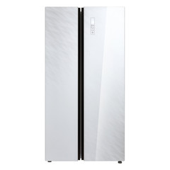Холодильник side-by-side белое стекло Korting KNFS 91797 GW фото
