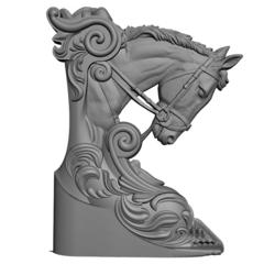Силиконовый молд  № 1099- м  Конь  правый