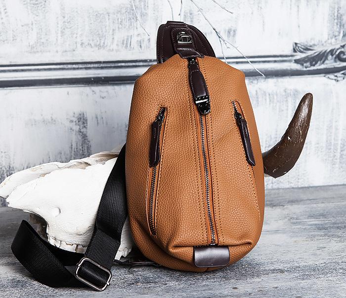 BAG422-2 Мужская сумка из кожи за спину с одной лямкой фото 02