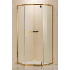 Душевое ограждение Grossman PR-100GD золото, 100х100, с распашными дверьми, угловое
