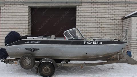 Ветровое стекло для лодки «Волжанка-49 (Фиш)»