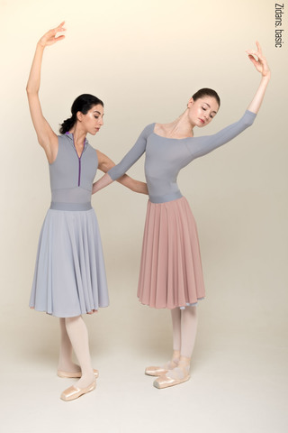 HB two-sided rehearsal skirt | grey-dusty_pink