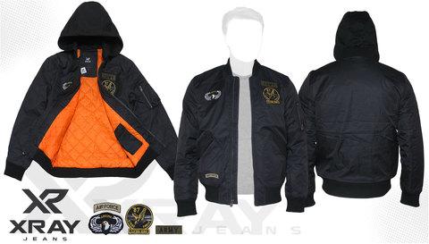 Куртка утепленная 'M-1 Flight Jacket Hooded & Patches' Black
