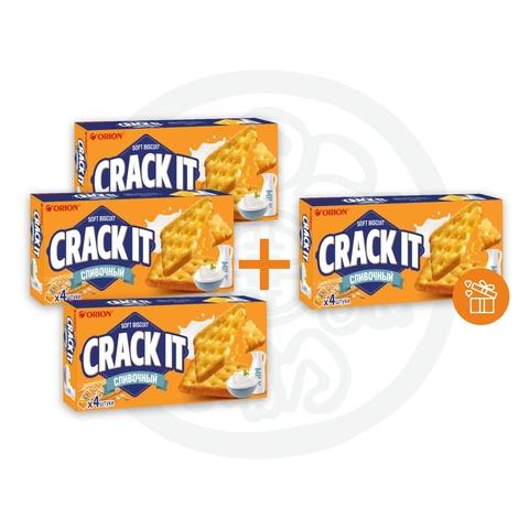 3 + 1 Печенье КРЕК-ИТ СЛИВОЧНЫЙ CRACK IT CREAMY 80г ORION