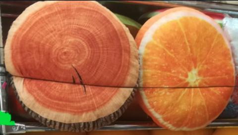 Мягкие подушки (пенёк и апельсин) 40 СМ