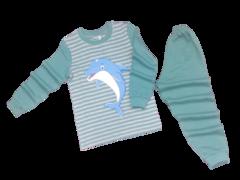 39D-2 пижама детская, серо-зеленая