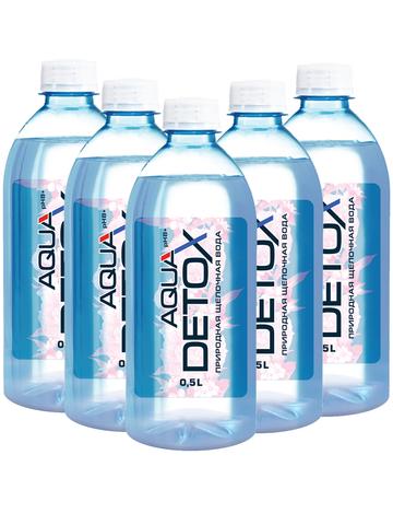 AQUAdetox - природная щелочная вода (pH 8.6) - 0,5л