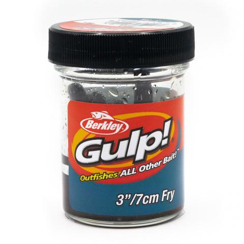 Приманка силиконовая Berkley Gulp Fry 8 см. Black (1404401) Имитация червя