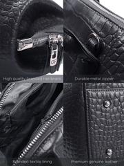 Сумка женская 523468A K24/K24 Modello di coccodrillo nero GF