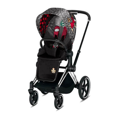 Прогулочная коляска Cybex Priam III FE Rebellious шасси Chrome/Black