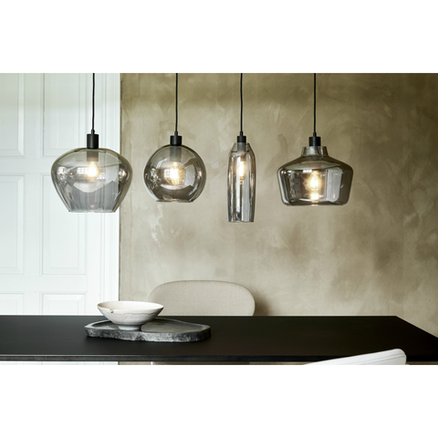 Лампа подвесная Kyoto, D32 см, стекло Electro Plated