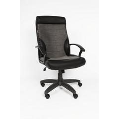 Кресло для руководителя Easy Chair 639 TPU серое/черное (экокожа/ткань/пластик)