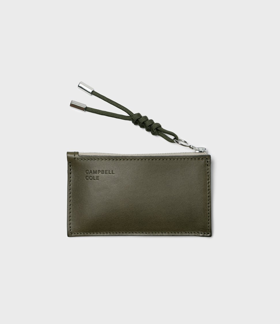 Campbell Cole Simple Coin Pouch with Puller Khaki
