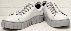 Белые кроссовки женские на платформе Guero G146 508 04 White Gray.