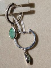 Жизель-берилл( серьги из серебра)