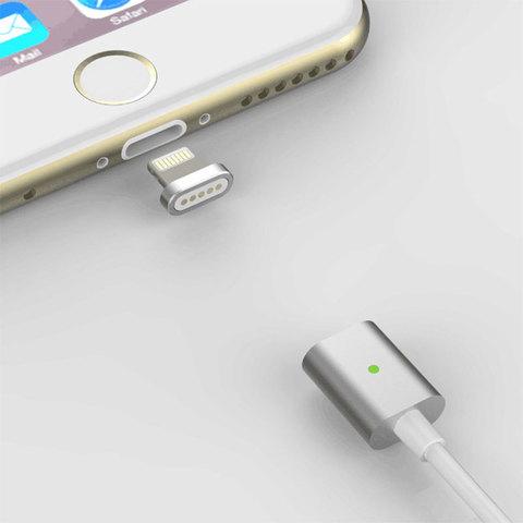 Магнитный кабель для передачи данных и зарядки электронных устройств с разъемом USB Lightning