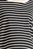 Платье для беременных 09800 черно-белая полоска