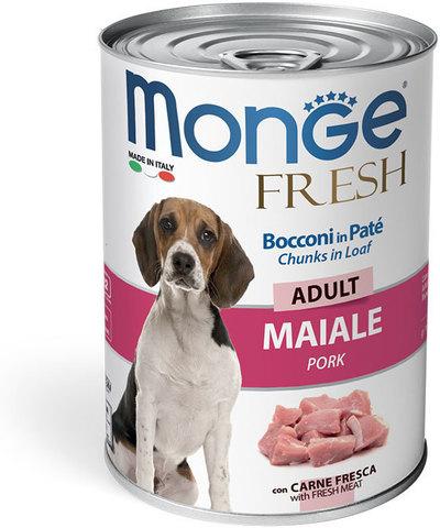 Monge Dog Fresh Chunks in Loaf консервы для собак мясной рулет (свинина) 400 г