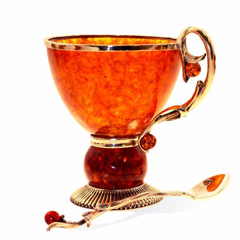 Чашка чайная из янтаря «Саламандра»