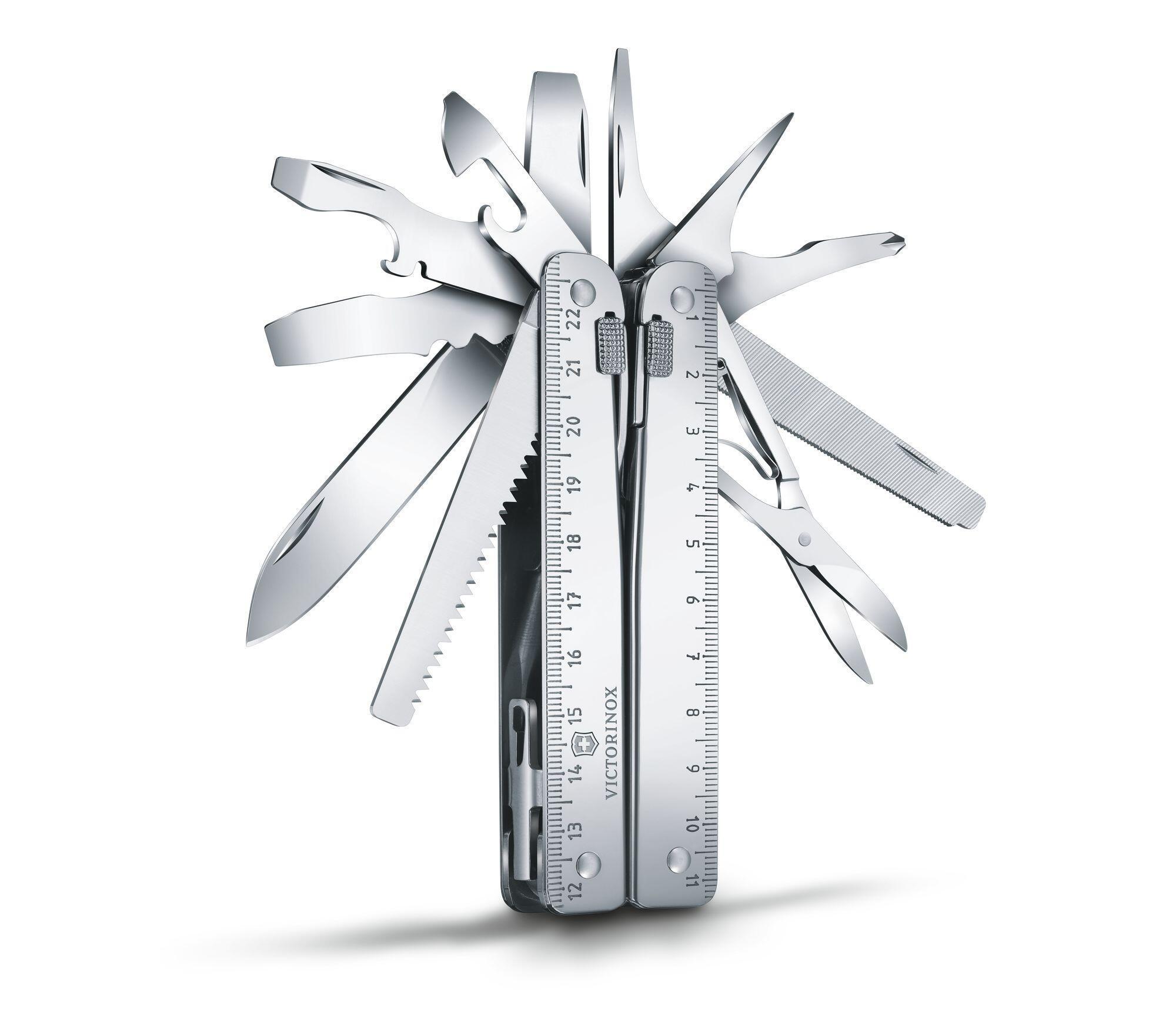 Мультитул Victorinox SwissTool X Plus Ratchet (3.0339.L) с набором бит, ключом-трещоткой, удлинителем и штопором | Wenger-Victorinox.Ru