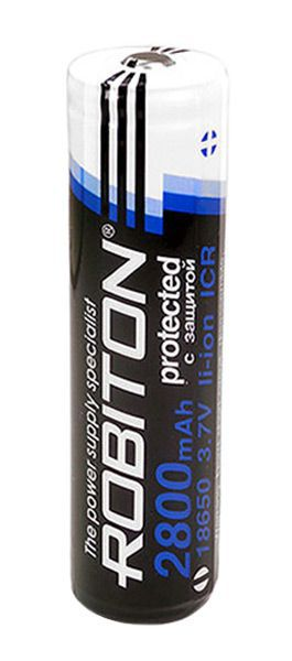 аккумулятор Robiton 18650 Li-Ion 2800 mAh, защищенный