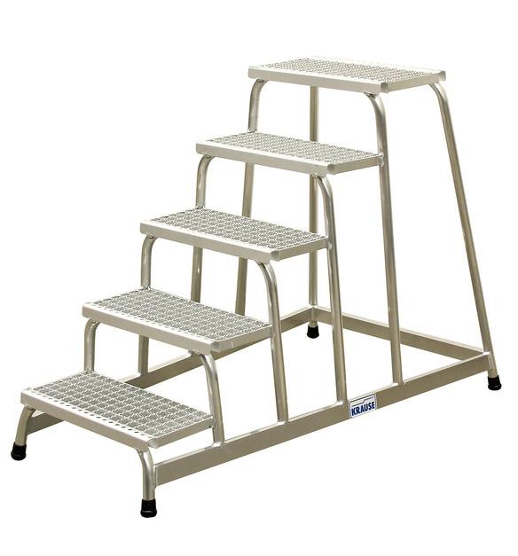 Монтажная подставка 4 ступ, алюм решетка