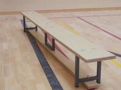 Скамейка гимнастическая на металлических ножках 1.5м (фанера)