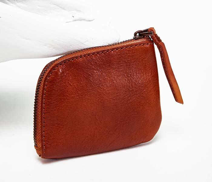 WL341-3 Кожаный мини кошелек красного цвета фото 02