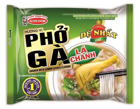 Вьетнамская рисовая лапша Фо Га, De Nhat, вкус курицы с лимоном, 65 гр.