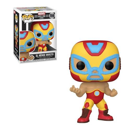 El Heroe Invicto 709 Iron Man Funko Pop! Vinyl Figure || Железный Лучадор